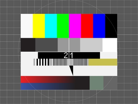 test pattern: television test screen