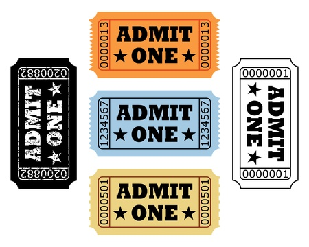 admit: movie tickets Illustration