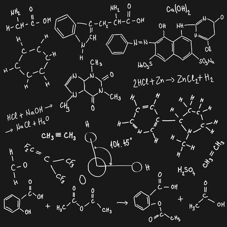 symbole chimique: arri�re-plan de chimie Illustration