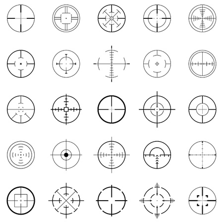 gun sight: crosshairs Illustration