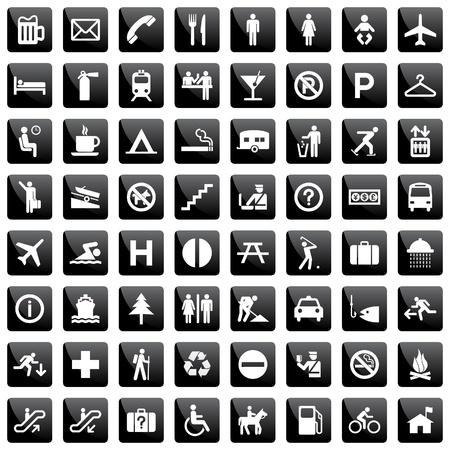 luggage airport: pictogram set Illustration