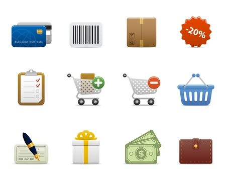 list: smooth series > shopping icons
