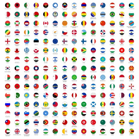south east: circle flags of the world