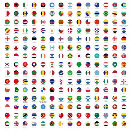 cirkel vlaggen van de wereld