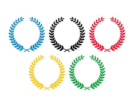 olympic laurel wreaths Editorial
