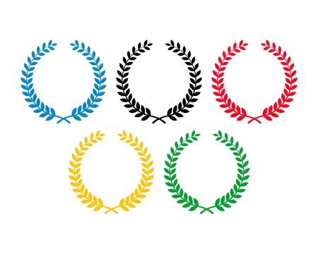 sports competition laurel wreaths