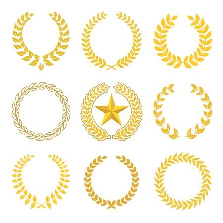 goldmedaille: goldenen Lorbeerkranz