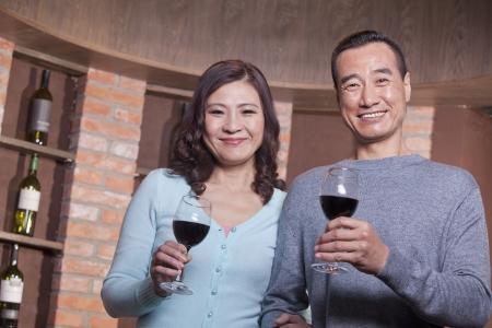 Mature Couple at a Winetasting  photo