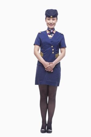 stewardess: Full length portrait of air stewardess