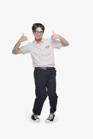 nerdy: Nerdy Guy Giving Thumbs Up