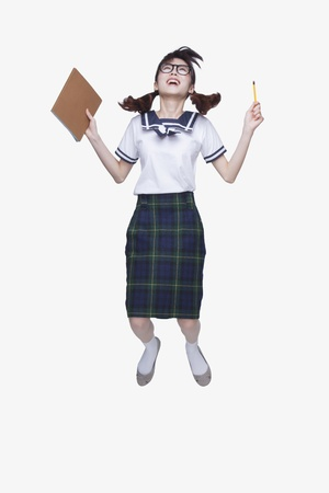 high school series: School Girl Jumping
