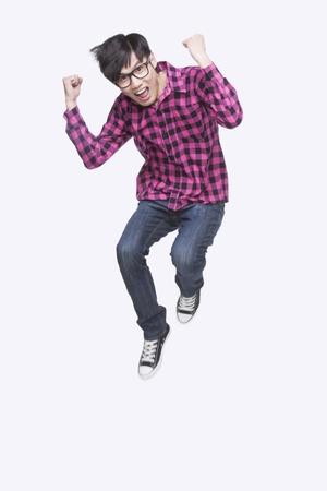 chinese character: Young Man Jumping