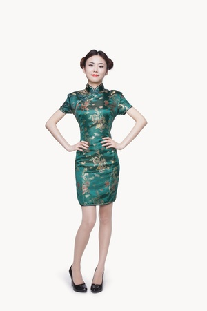 qipao: Portrait of Young Woman in Qipao
