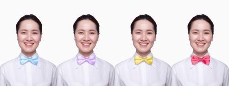 digital composite: Businesswoman with colorful tie, Digital Composite Stock Photo