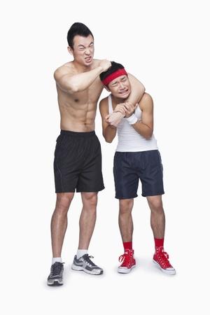 teasing: Athlete teasing athlete