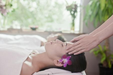 Women Receiving Head Massage photo