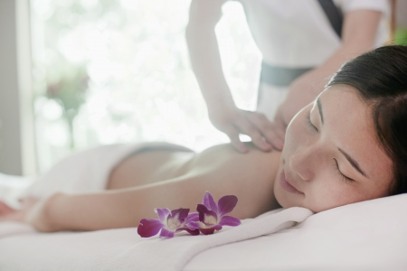 Woman Receiving Massage Stock Photo - 21121691