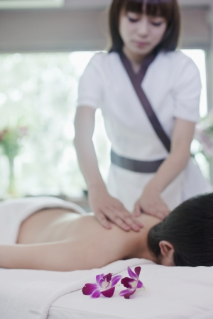 Woman Receiving Massage Stock Photo - 21121692