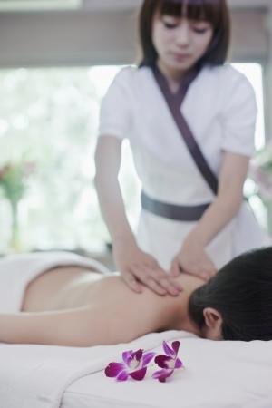 Woman Receiving Massage photo