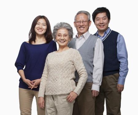 Multi generation family portrait