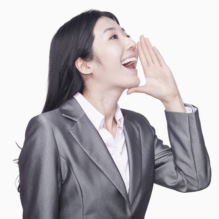 Businesswoman screaming Imagens - 35986044