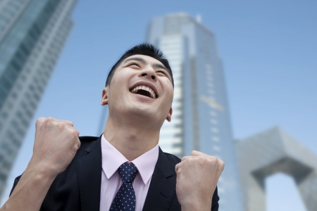 Businessman Cheering Stock Photo - 20714028