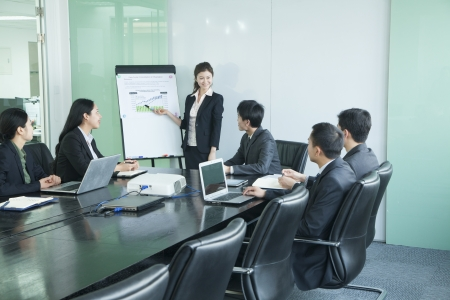 business security: Business people having meeting