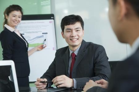 Business people having meeting photo
