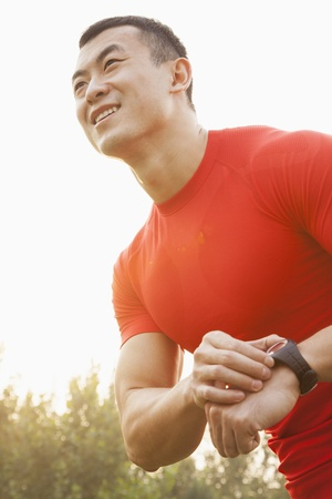 Muscular Man With Watch