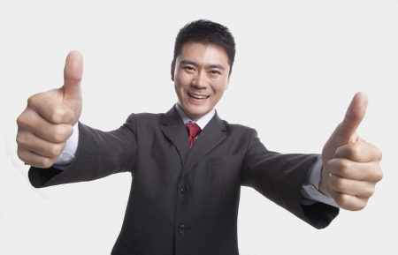 thumbsup: Businessman Giving Thumbs-Up