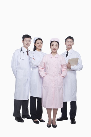 healthcare workers: Portrait of Four Healthcare workers, China