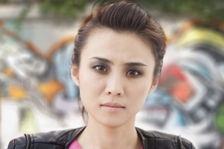 Young Woman with Smoky Eyes photo