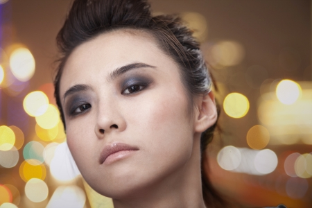 counterculture: Young Woman with Smoky Eyes