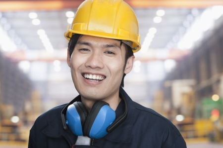 young engineer: Portrait of Young Engineer Stock Photo