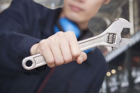Close-Up Wrench Stock Photo