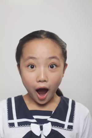 ni�a gritando: Chica gritando, Estudio