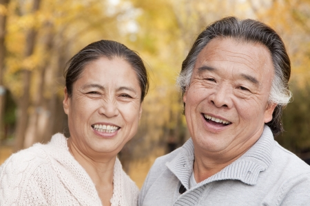 two people: Old couple in park