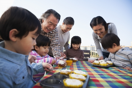 top seven: Birthday part, multi-generation family