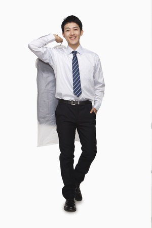 laundered: Businessman carrying laundered shirt