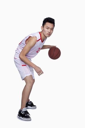 dribbling: Basketball Player Dribbling