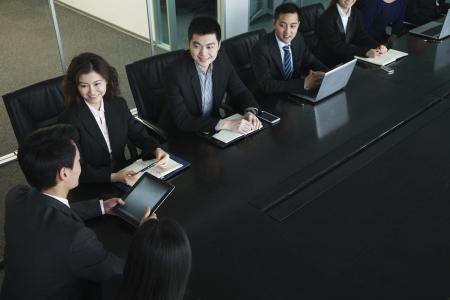 business meeting: Business people having meeting