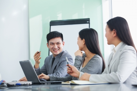 business dress: Businesspeople Working Together