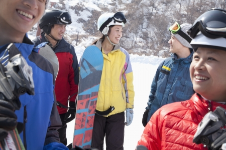 Group of Friends in Ski Resort