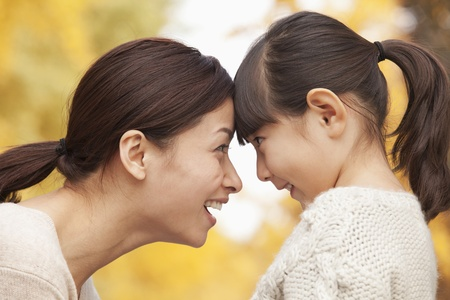 Mother and Daughter face to face