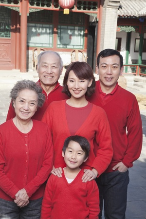 chinese courtyard: Multi-generation Family in Traditional Chinese Courtyard