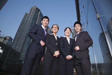 business district: Businesspeople in Business District