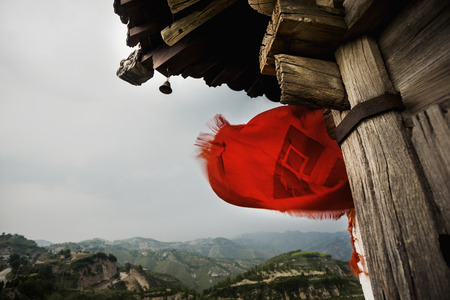 Small pagoda in a rural, mountainous area, Shanxi Province, China  photo