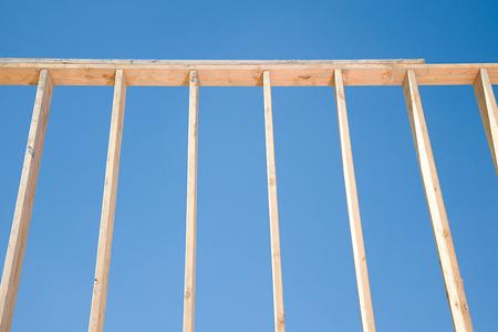 housebuilding: Framework of a house Stock Photo