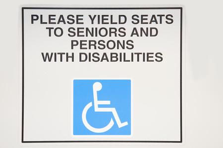 impaired: Sign on light rail