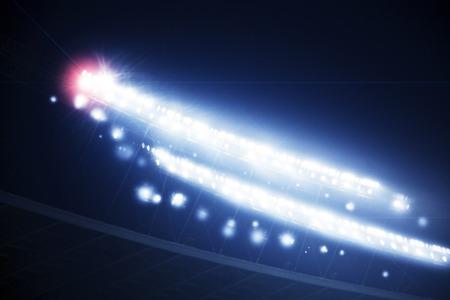 フレアとスタジアムのライト